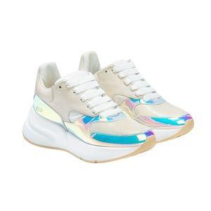Alexander McQueen Holographic Platform Sneakers